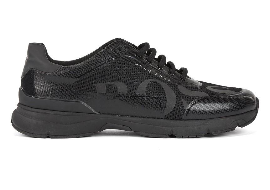 BOSS Velocity Runn logo2 Baskets style chaussures de course avec doublure en charbon de bambou pour Homme