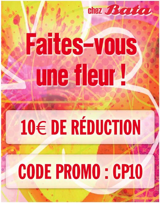 Bata faites vous une fleur 10 euros de r duction 20 for Livraison fleurs pas cher 10 euros