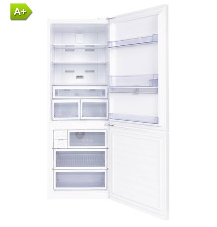 refrigerateur congelateur en bas beko bcn552dw pas cher. Black Bedroom Furniture Sets. Home Design Ideas