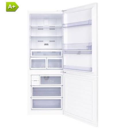 refrigerateur congelateur en bas beko bcn552dw pas cher r frig rateur cong lateur darty. Black Bedroom Furniture Sets. Home Design Ideas
