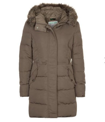 Benetton Doudoune marron