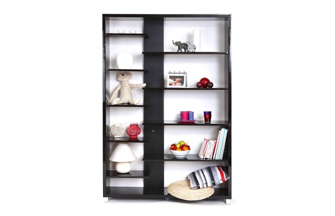soldes biblioth que miliboo biblioth que design laqu e noire vixy ventes pas. Black Bedroom Furniture Sets. Home Design Ideas