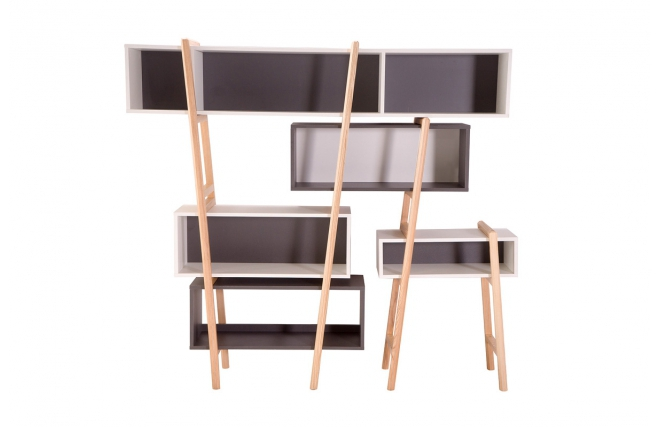 biblioth que design wood tang compo 5 biblioth que miliboo ventes pas. Black Bedroom Furniture Sets. Home Design Ideas