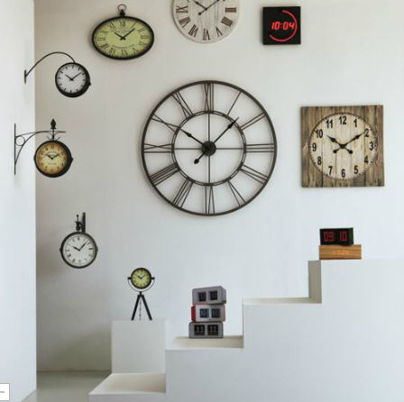 horloge murale 101 5 cm de diam tre myron big horloge alinea ventes pas. Black Bedroom Furniture Sets. Home Design Ideas