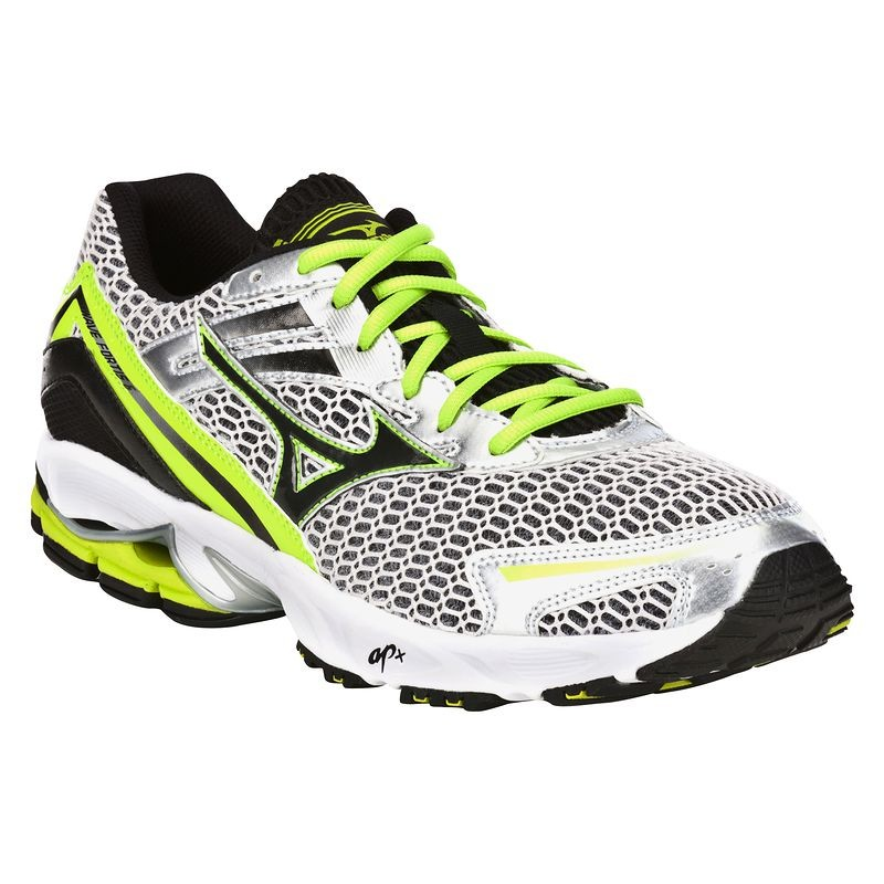 Royaume-Uni disponibilité 9a83a 164cd Chaussures running wave fortis 6 argent vert MIZUNO