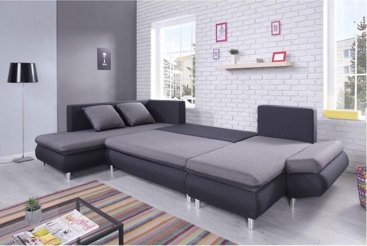 bobochic canap nesty panoramique gris clair soldes canap rue du commerce ventes pas. Black Bedroom Furniture Sets. Home Design Ideas