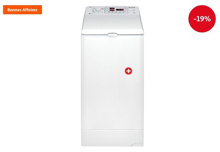 Lave-linge séchant top WTD8074SF 8 Kg pas cher - Soldes Lave linge Auchan