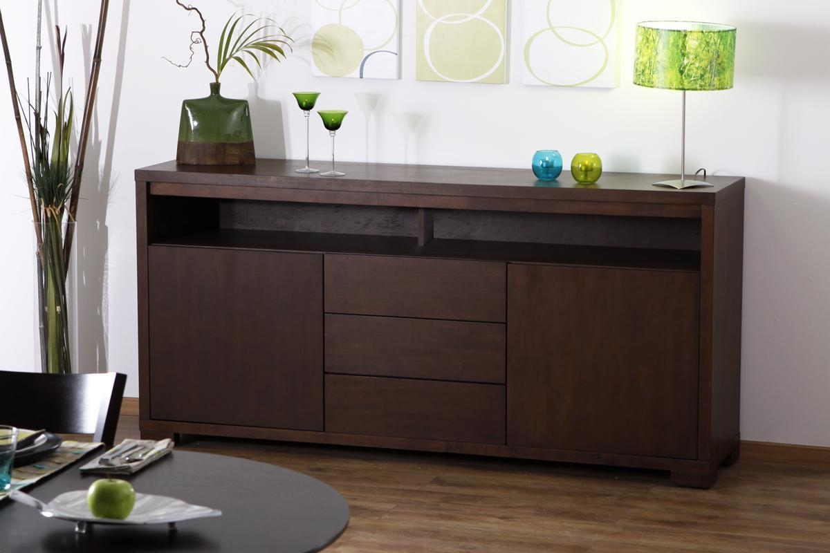 buffet miliboo buffet bas en ch ne chocolat 2 portes et. Black Bedroom Furniture Sets. Home Design Ideas