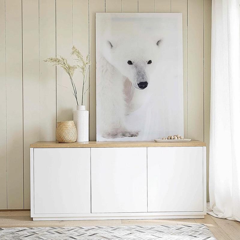 Buffet blanc 3 portes Austral - Maisons du Monde
