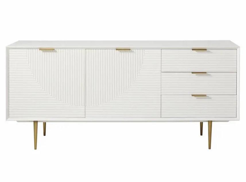 Buffet enfilade vintage Riverside 2 portes 3 tiroirs blanc - Maisons du Monde