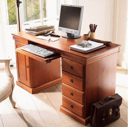 soldes bureau la maison de valerie bureau multim dia style louis philippe merisier ventes. Black Bedroom Furniture Sets. Home Design Ideas