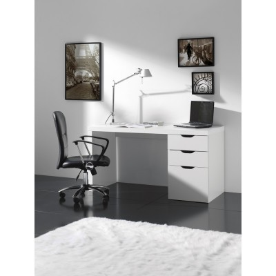 bureau design atylia bureau blanc avec tiroirs ben ventes pas. Black Bedroom Furniture Sets. Home Design Ideas
