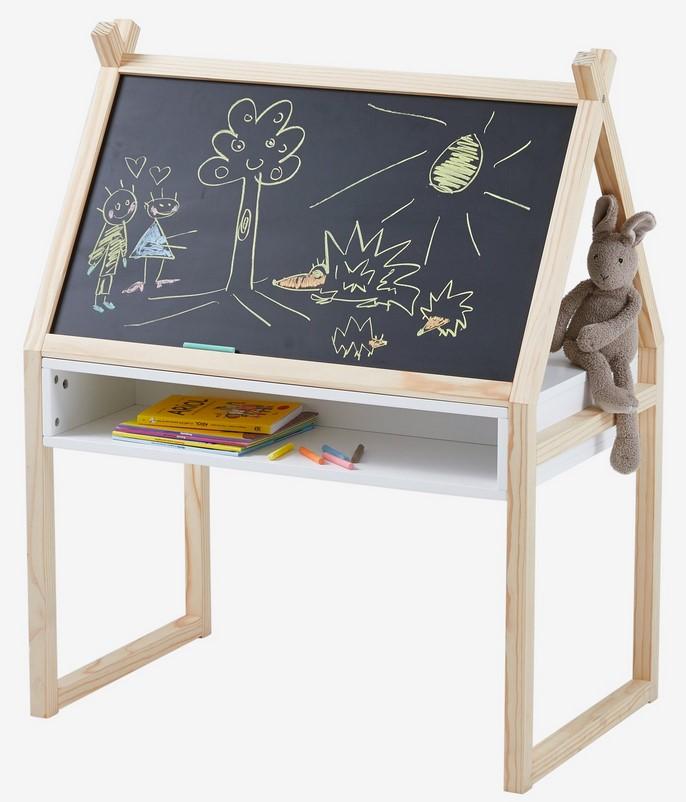 bureau maternelle blackboard blanc bois pas cher bureau enfant vertbaudet ventes pas. Black Bedroom Furniture Sets. Home Design Ideas