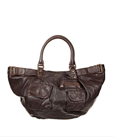 Soldes Sacs Monshowroom, Cabas cuir marron Joy Ikks women