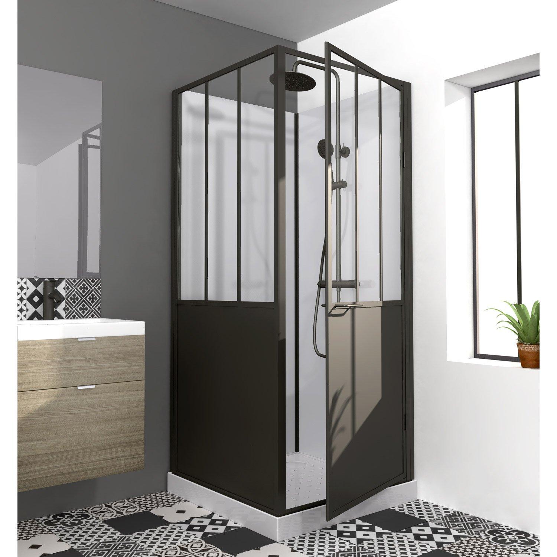 Cabine de douche carré Atelier - Leroy Merlin