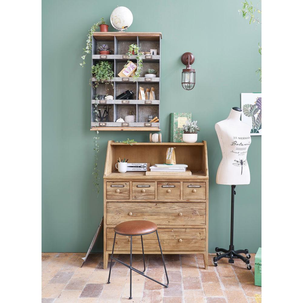 Cabinet 6 tiroirs Botanica en pin recyclé - Maisons du Monde