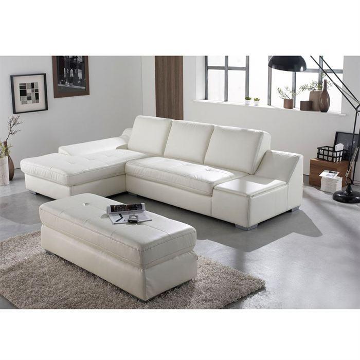 canap cdiscount pas cher calgary angle gauche avec coffre pu blanc soldes cdiscount top. Black Bedroom Furniture Sets. Home Design Ideas
