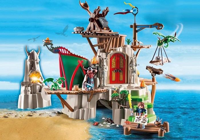 Campement de l'île de Beurk 9243 PLAYMOBIL pas cher - Jouets Playmobil