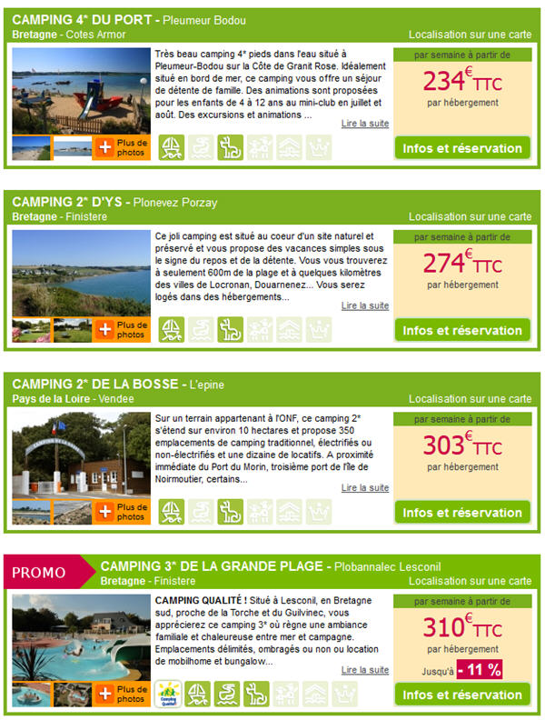 Promotion Camping Voyages SNCF - Camping Bord de Mer pas Cher