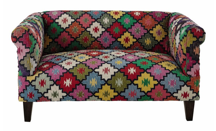 canap 2 3 places arlequin en tressage kilim multicolore. Black Bedroom Furniture Sets. Home Design Ideas