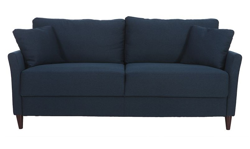 Canapé 3 places design MEDLEY en tissu bleu foncé avec rangement - Miliboo