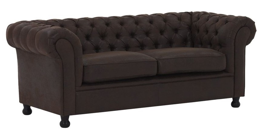 Canapé 3 places vintage marron CHESTERFIELD
