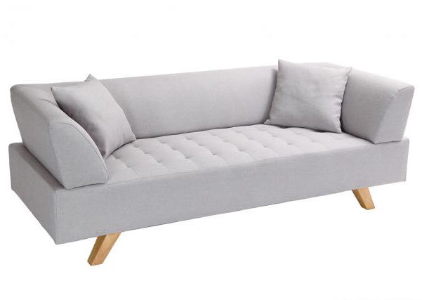 Canap design 3 places artic gris canap miliboo - Canape 3 places design ...