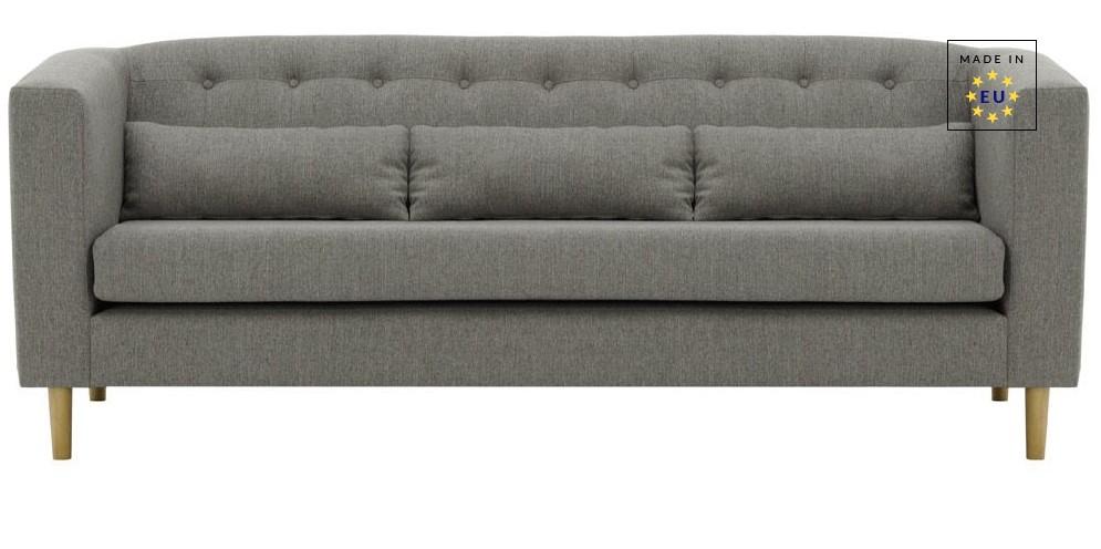 Canapé design 3 places EBONY gris clair - Miliboo