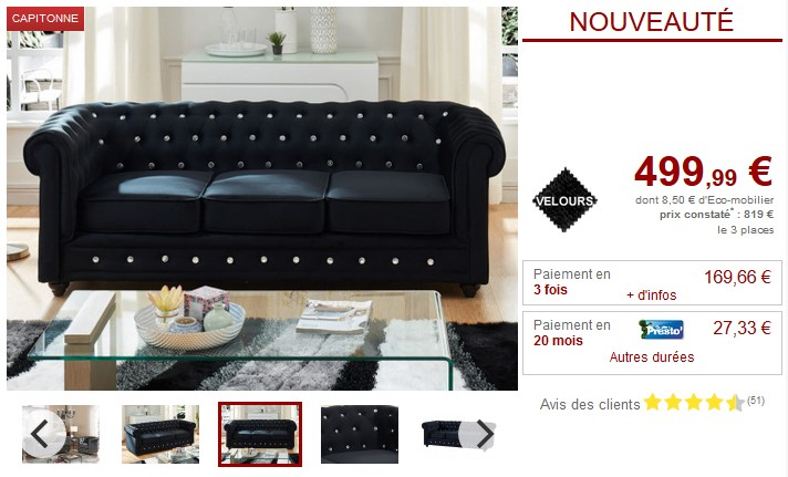 canap et fauteuil velours 9 coloris chesterfield pas cher canap vente unique ventes pas. Black Bedroom Furniture Sets. Home Design Ideas