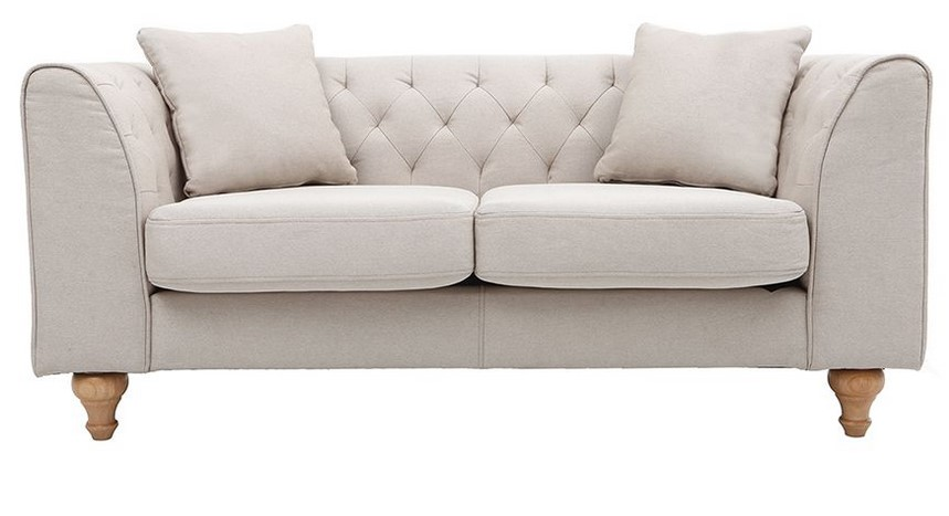 Canap classique 2 places montaigne tissu coloris naturel for Canape companies