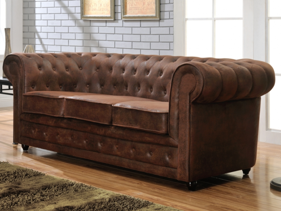 Canap chesterfield cuir pas cher univers canap for Canape chesterfield cuir pas cher