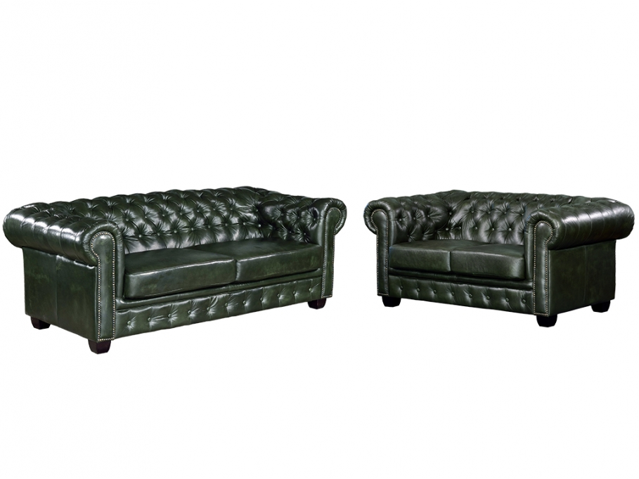 Canap chesterfield 3 2 places brenton canap vente for Canape chesterfield pas cher