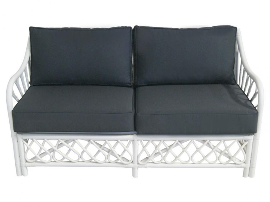 canap 2 places tissu et rotin milena canap vente unique ventes pas. Black Bedroom Furniture Sets. Home Design Ideas