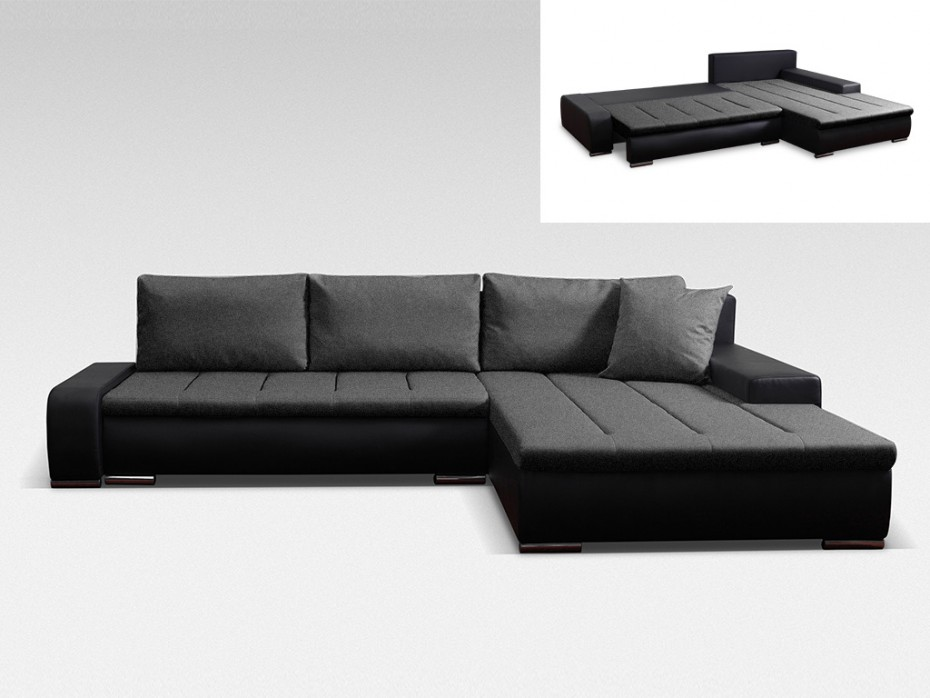 canap d 39 angle r versible et convertible niro bimati re canap vente unique ventes pas. Black Bedroom Furniture Sets. Home Design Ideas