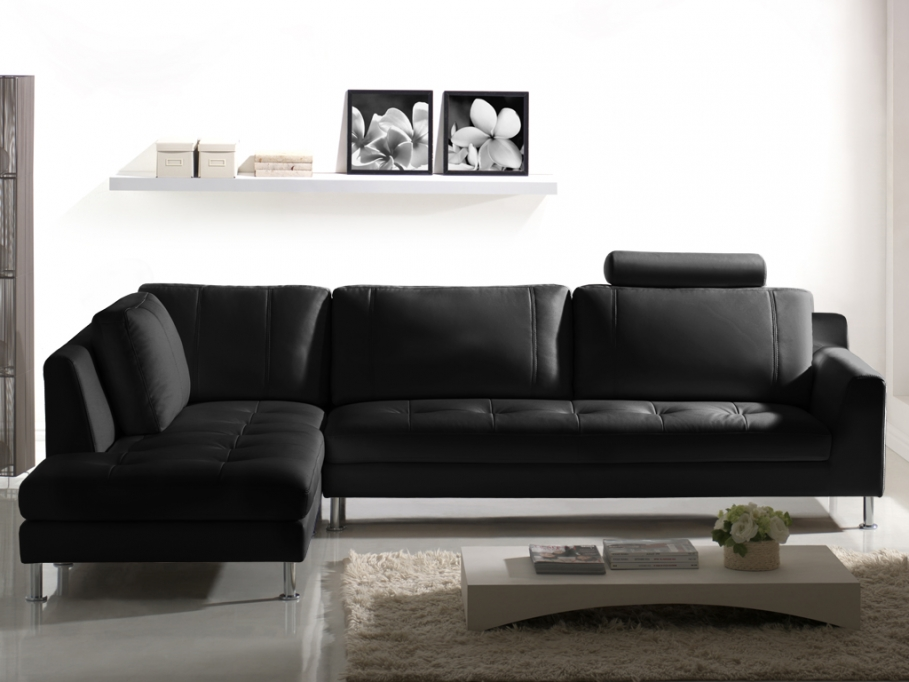 vente flash canap d 39 angle en cuir olivia prix 799 99 euros vente unique ventes pas. Black Bedroom Furniture Sets. Home Design Ideas