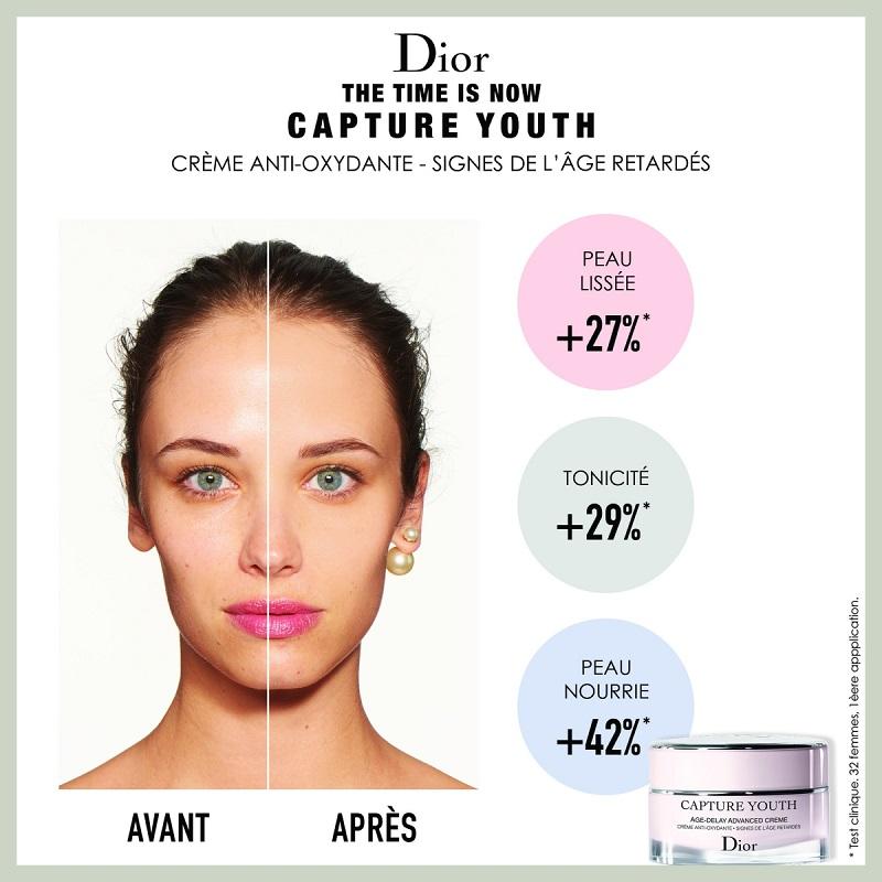 Capture Youth Crème Anti-Oxydante - Signes de l'Âge Retardés de DIOR