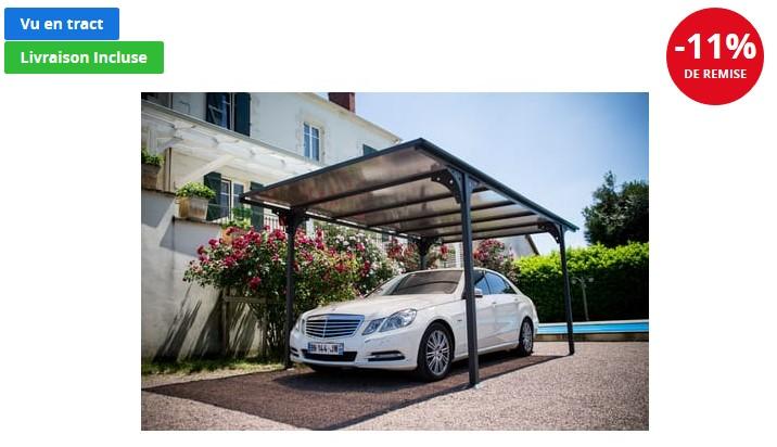 Carport aluminium Somerset 14,60 m² - Auchan