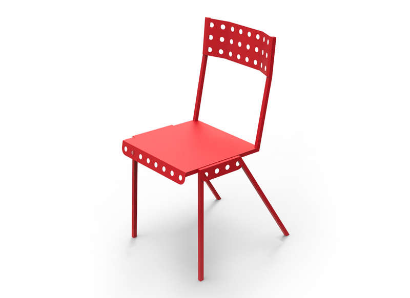 chaise bistrot meccano rouge chaises meccano achatdesign ventes pas. Black Bedroom Furniture Sets. Home Design Ideas