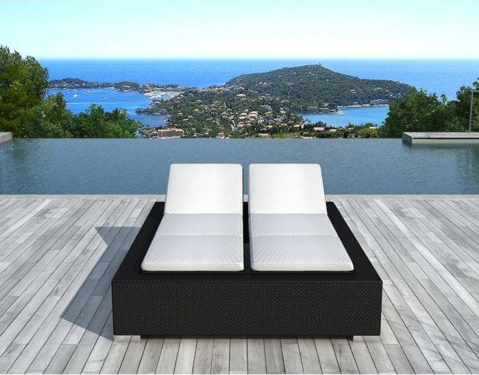 chaise longue atylia chaise longue 2 places r sine ventes pas. Black Bedroom Furniture Sets. Home Design Ideas