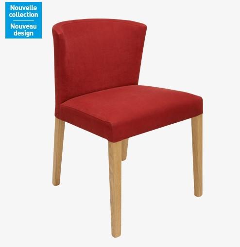 Valentina chaise rouge en tissu et ch ne habitat chaises habitat ventes pa - Chaise rouge pas cher ...