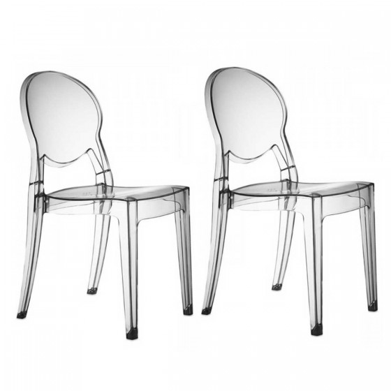 Chaises transparentes design r gence soldes chaise for Conforama chaise transparente