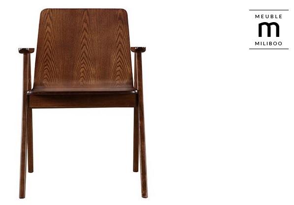 Chaises design vintage noyer lot de 2 dana chaises miliboo ventes pas - Chaise vintage pas cher ...