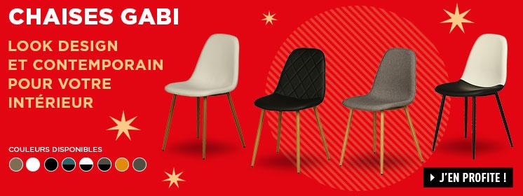Soldes Lot de 4 chaises GABI Conforama