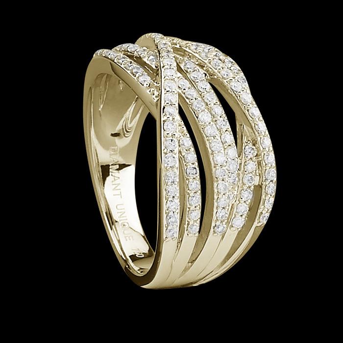bague diamant unique bague charmeuse or jaune et 0 50 carat de diamants prix 879 00 euros. Black Bedroom Furniture Sets. Home Design Ideas