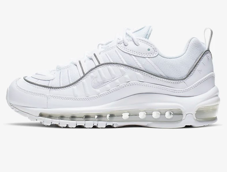 Nike Air Max 98 Baskets Basses Blanches pas cher Baskets Femme Nike