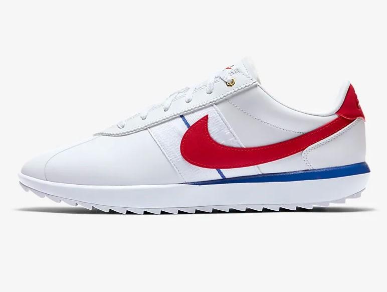Nike Cortez G Chaussures de golf Blanc/Royal pour Femme