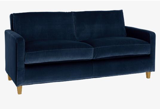chester canap 2 places en velours canap habitat ventes pas. Black Bedroom Furniture Sets. Home Design Ideas