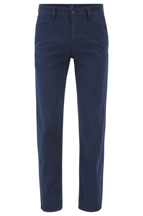 BOSS Chino Schino Tapered Fit en coton stretch micro-texturé