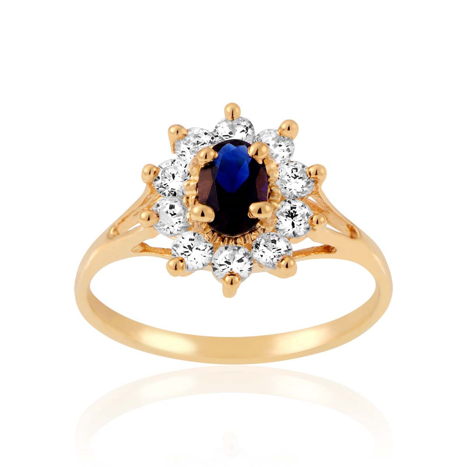 Cleor Bague en or et oxyde bleu - Bague Femme Brandalley - Ventes ... a6e7d65bb15a