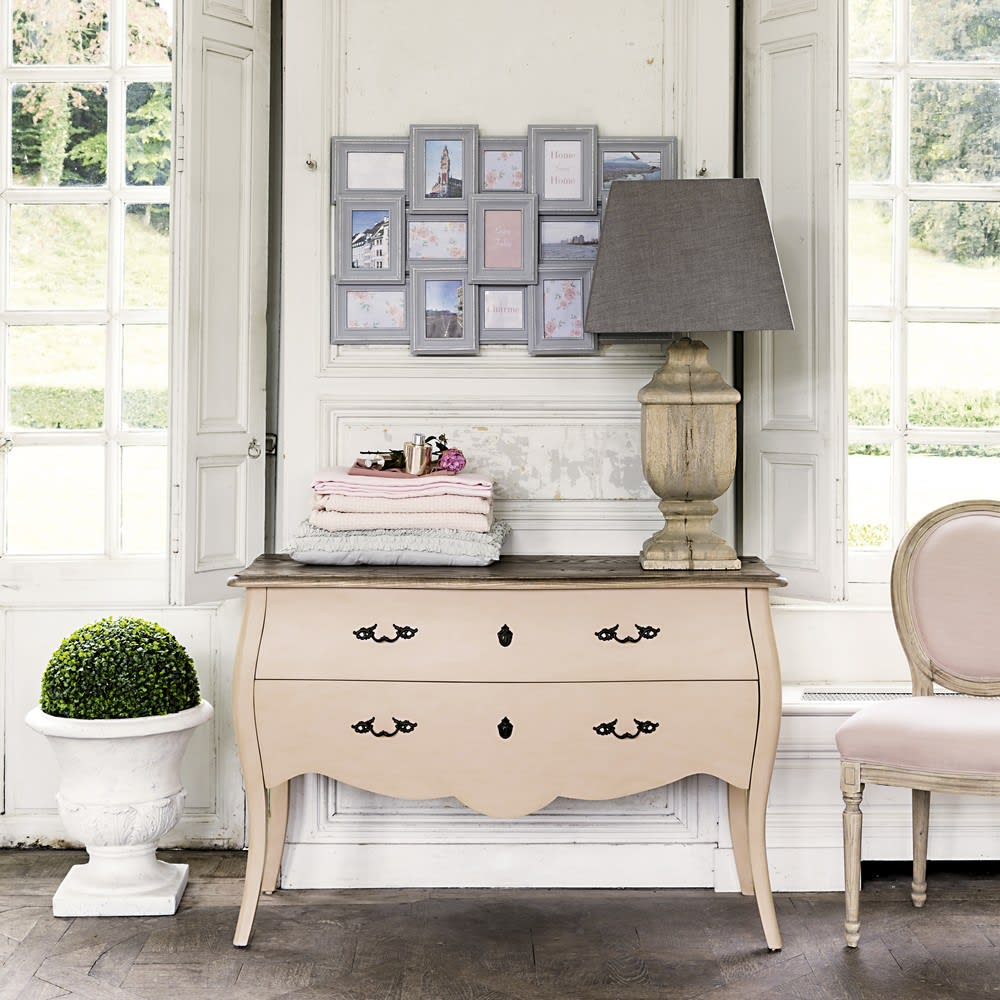Commode 2 tiroirs Haute couture rose clair - Soldes Commode Maisons ...